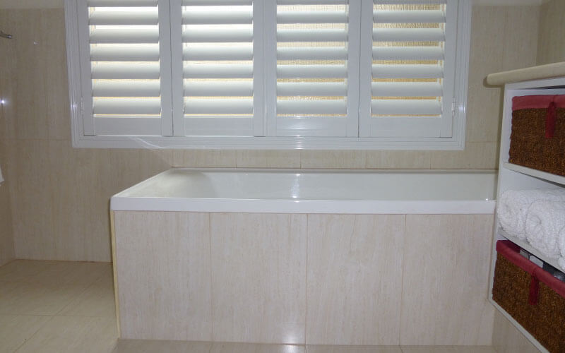 Aluminium Shutter in a bathroom from The Blind Shop