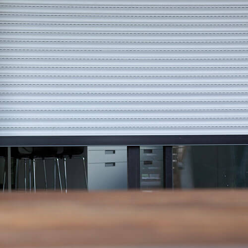 A closeup of a roller shutter from The Blind Shop, Canberra