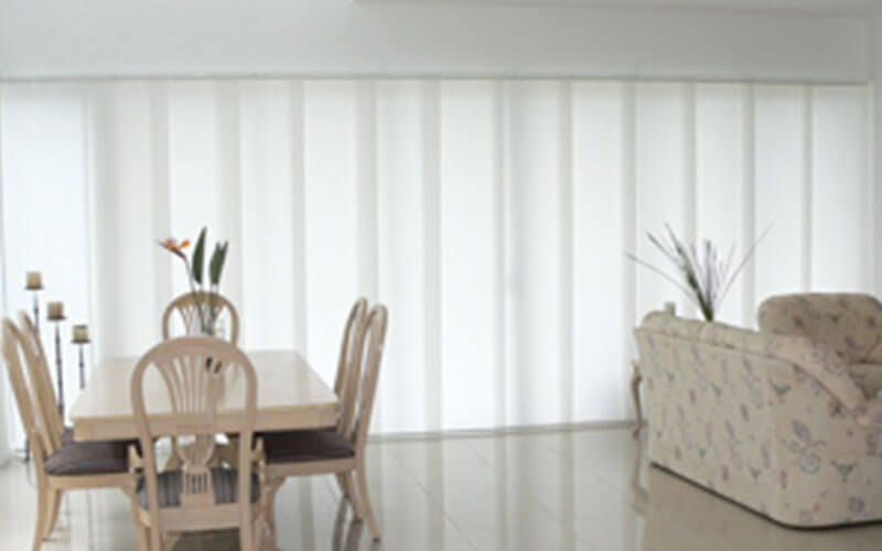 White panel blinds from The Blind Shop, Canberra