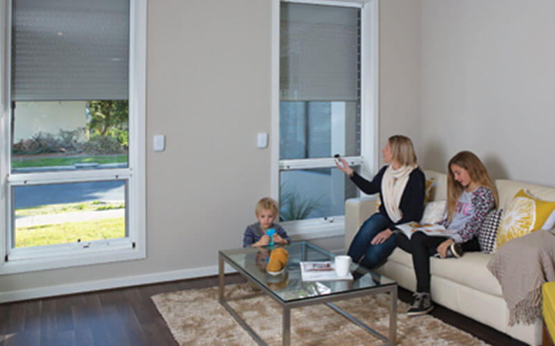 A Canberra family using Roller Shutters with PowerSmart Technology