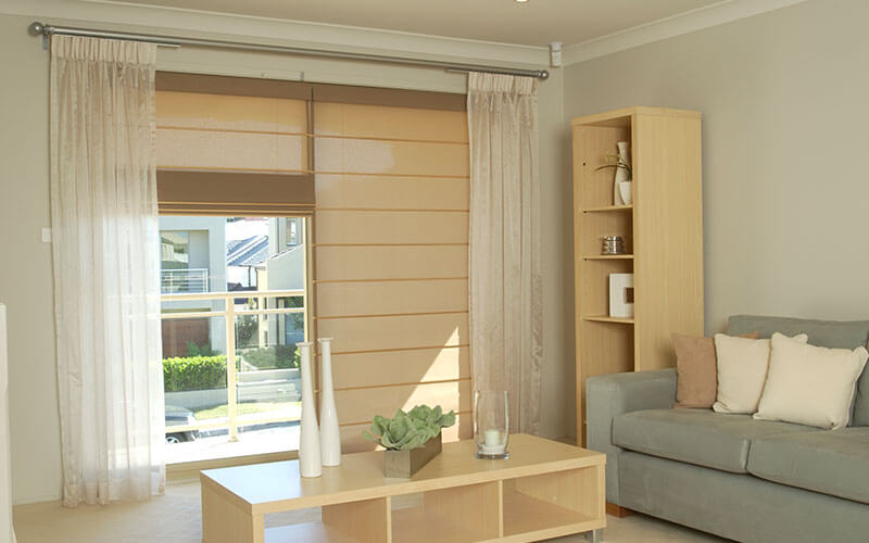 beige roman blinds from The Blind Shop in Canberra, ACT